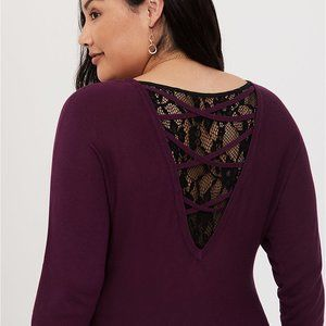 Torrid Lace Inset Tunic Sweater 3